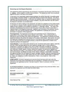 Free Social Work Client Contract Template Word Example