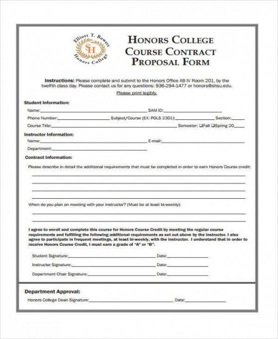 Printable Bid Contract Template Doc Sample