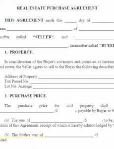 Printable Co-Ownership Contract Template  Example