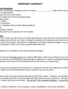 Printable Freight Contract Template Word