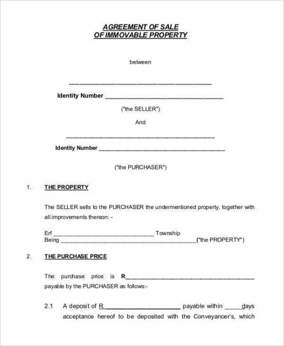 Professional Contract Paper Template Excel