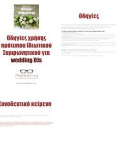 Wedding Dj Contract Template Doc Example